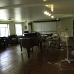 This is the composers studio at Hambidge. A beautiful old barn with a gigantic space to pace around and a 1927 Steinway.